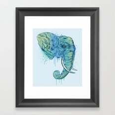 Elephant Portrait Framed Art Print
