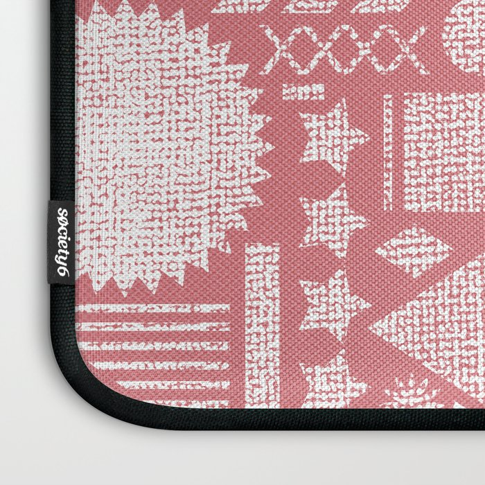Modern Elements with Bubble Gum. Laptop Sleeve