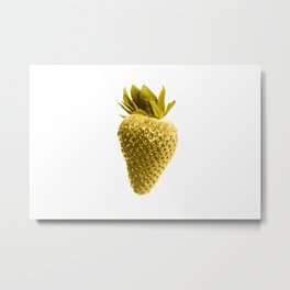 gold strawberry Metal Print