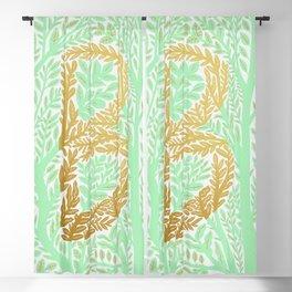 Botanical Metallic Monogram - Letter B Blackout Curtain
