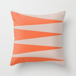 Orange Flags Throw Pillow