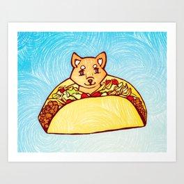 Shiba Taco Art Print