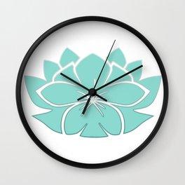 M Designs co lotus plumeria blossom Wall Clock