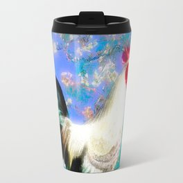 Provencal cock against the background of Van Gogh Travel Mug
