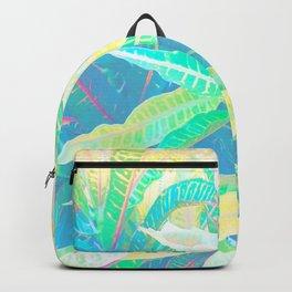 Tropical Croton Leaves 3 Backpack
