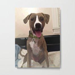 Doggy (Pitbull Mix) Metal Print