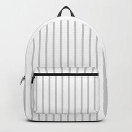 Silver Dandelion Pinstripe on White Backpack