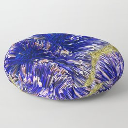 Blue and Gold Floor Pillow