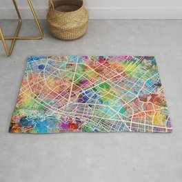 Bogota Colombia City Map Rug