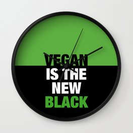 VEGAN is the new black Wall Clock