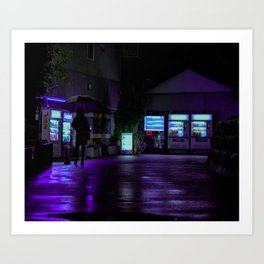 Into the Neon Art Print