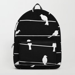 Birds on a wire pattern Backpack
