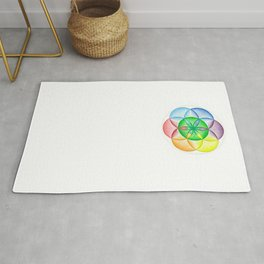 The Seed of Life - The Rainbow Tribe Collection Rug