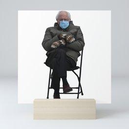 Bernie Sanders Sitting Meme  Mini Art Print