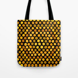 Honeycomb Ombre Dots Pattern Tote Bag