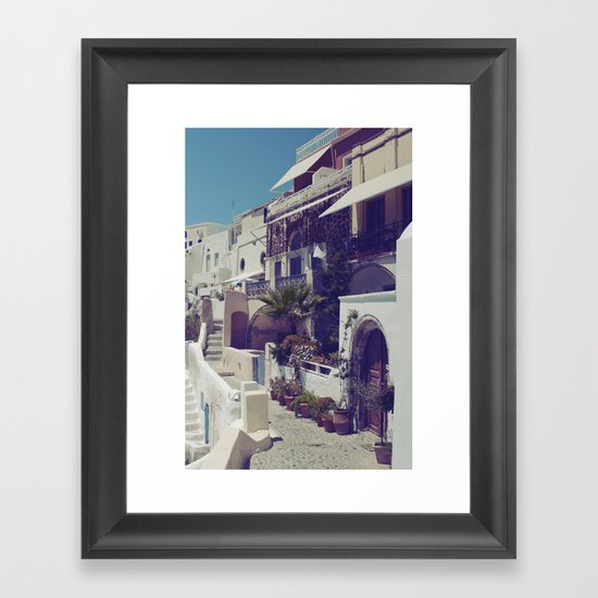 Streets of Santorini I  Framed Art Print