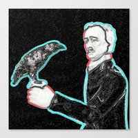 poe Canvas Prints featuring Poe by Beastie Toyz