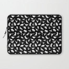 Fun Dinosaur Pattern (Black) Laptop Sleeve