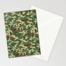 Military Camouflage Pattern - Brown Yellow Green Stationery Cards