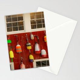 Bar Harbor Maine Lobster Buoys Print Stationery Cards