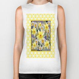 Decorative  Daffodils Spring Flower Garden Yellow Art Biker Tank