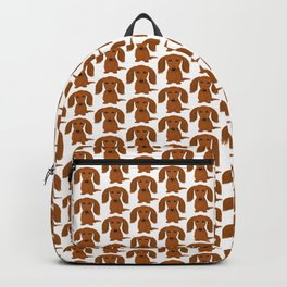 Longhaired Red Dachshund Backpack