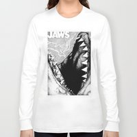 jaws Long Sleeve T-shirts featuring Jaws by Sinpiggyhead