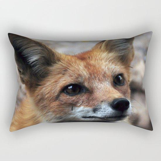 Gentle Fox Rectangular Pillow