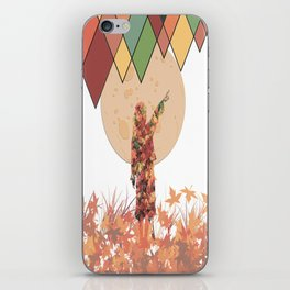 Flower girl and the moon iPhone Skin