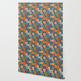 Blobs and tiles Wallpaper