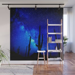 The Milky Way Blue Wall Mural