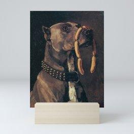 GREAT DANE WITH SAUSAGES - WILHELM TRUEBNER Mini Art Print