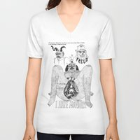 freud V-neck T-shirts featuring Freud. by Philip Dearest