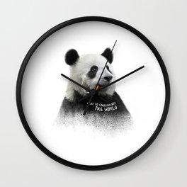 Panda contemplator Wall Clock
