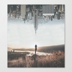 Between Earth & City Canvas Print
