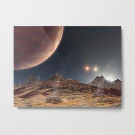 989. Land of Three Suns Artist Concept Animation Metal Print