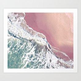 Blush Beach Art Print