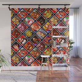 Super Punch-Out!! | foes pattern || video game nostalgia Wall Mural