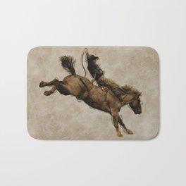 Western-style Bucking Bronco Cowboy Bath Mat