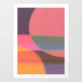 Mid-century modern abstract composition Art Print