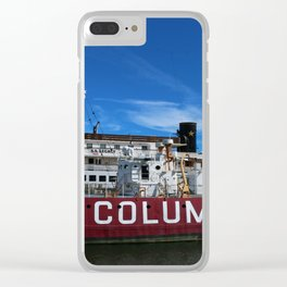 Fireship Columbia Clear iPhone Case