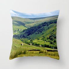 Yorkshire Dales Views Throw Pillow