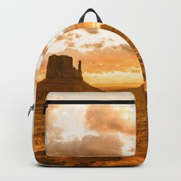 Southwest Wanderlust - Monument Valley Sunrise Nature Photography Backpack
