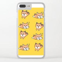 Mustard Shiba Clear iPhone Case