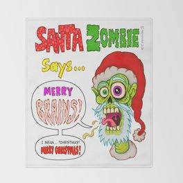 Santa Zombie Throw Blanket
