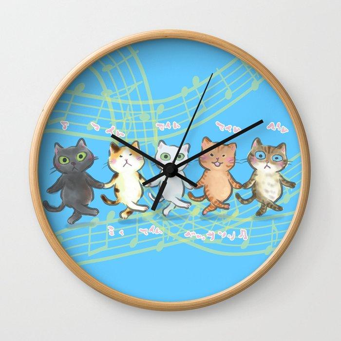 dancing kitties Wall Clock