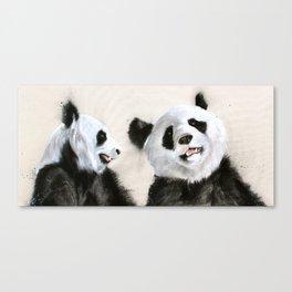 Laughing Pandas  Canvas Print
