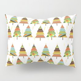 Abstract pine tree forest seamless pattern background Pillow Sham