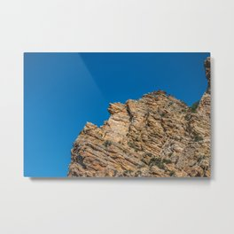 Rock Canyon Utah Outcropping Rock Formation Mountain Photography Metal Print