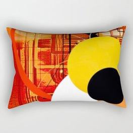 Yellow Black and Orange Sticker Abstract Rectangular Pillow